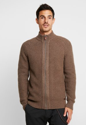 Cardigan - mottled light brown