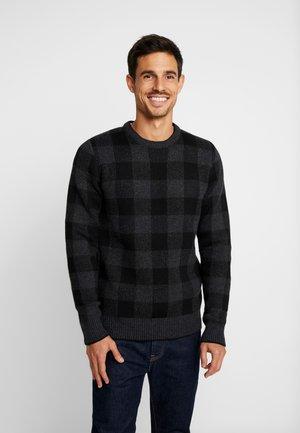 Sweter - mottled grey/black