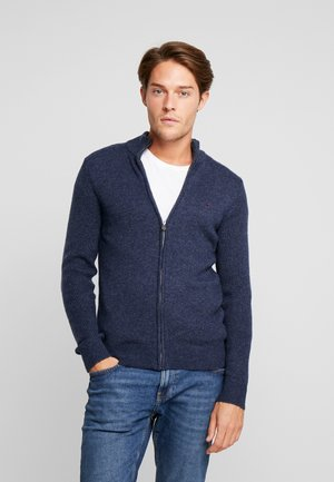 Chaqueta de punto - mottled dark blue