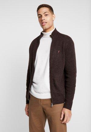 Vest - mottled brown