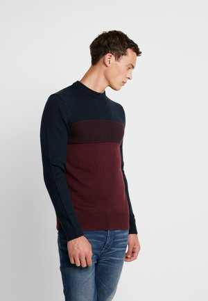 Sweter - bordeaux / dark blue