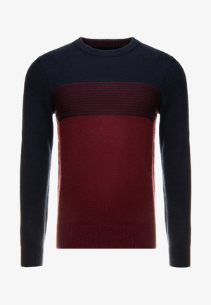 Jumper - bordeaux / dark blue