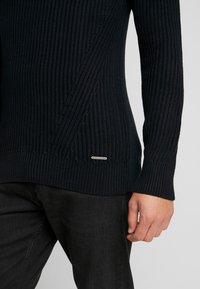 Pier One - Stickad tröja - black - 5