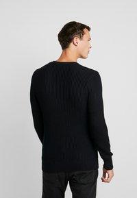 Pier One - Stickad tröja - black - 2