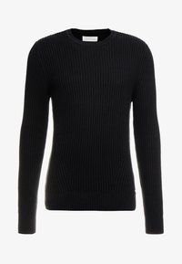 Pier One - Stickad tröja - black - 4