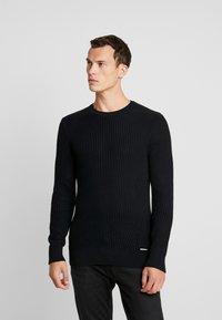 Pier One - Stickad tröja - black - 0