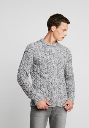 Strikpullover /Striktrøjer - mottled light grey