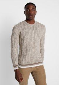 Pier One - Pullover - mottled beige - 0