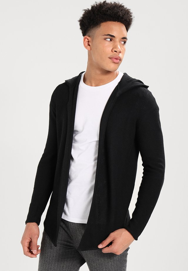 Strickjacke - solid black
