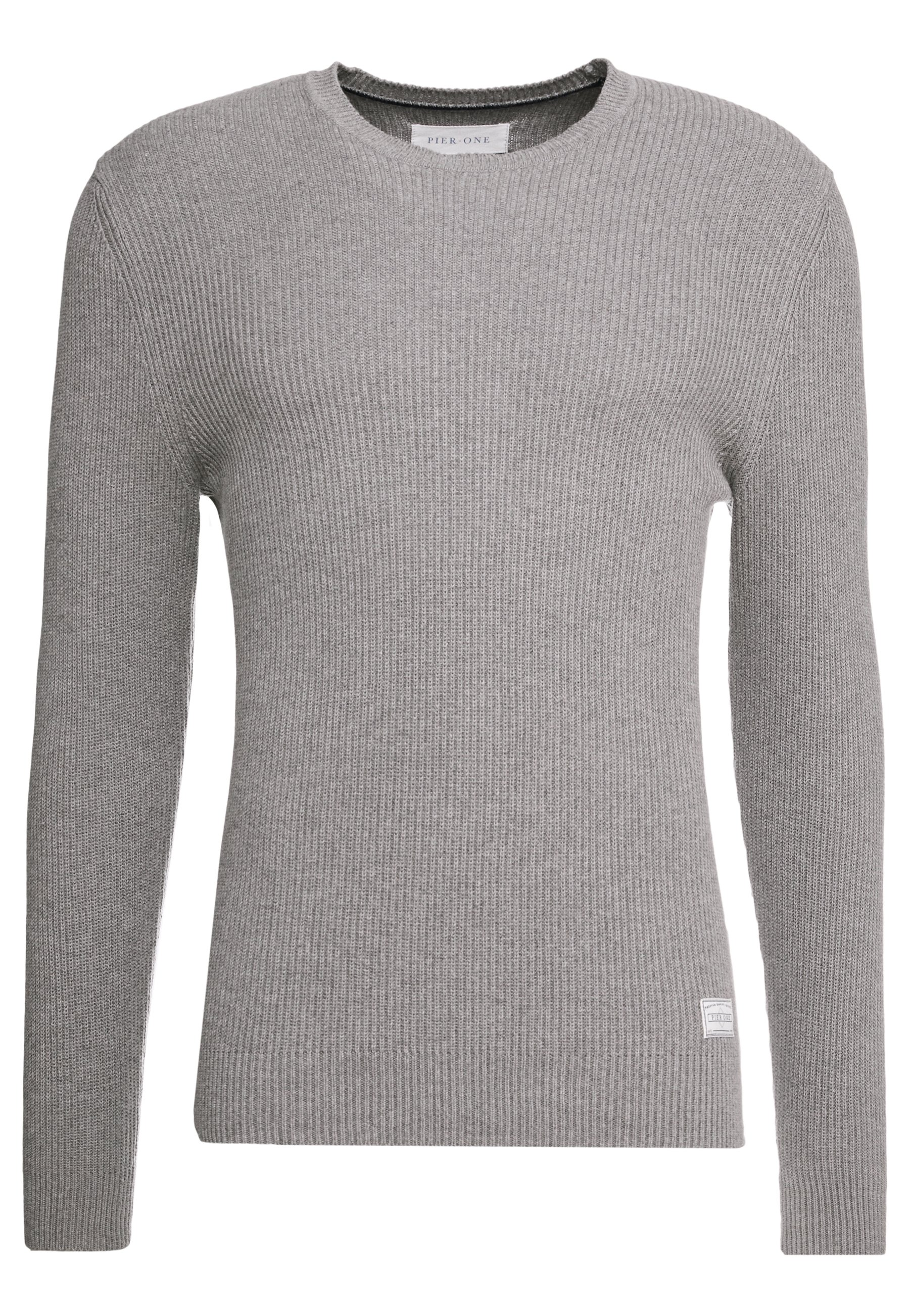 Pier One Pullover - Mottled Grey