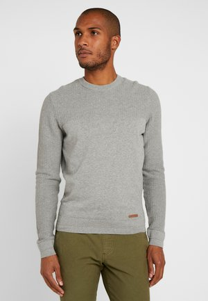 BASIC STRUCTURE BLOCK - Pullover - mottled light grey