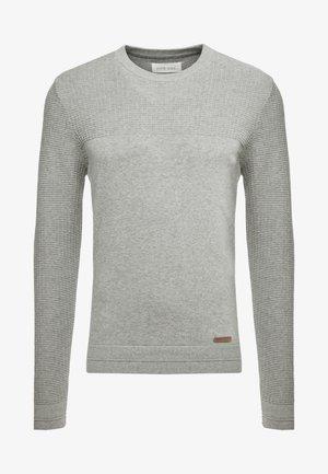 BASIC STRUCTURE BLOCK - Strickpullover - mottled light grey