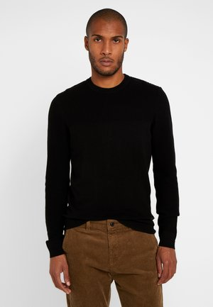 BASIC STRUCTURE BLOCK - Strickpullover - black