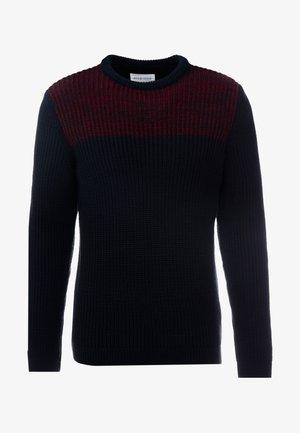 Pullover - dark blue/bordeaux