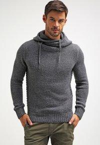 Pier One - Hoodie - dark grey melange - 0