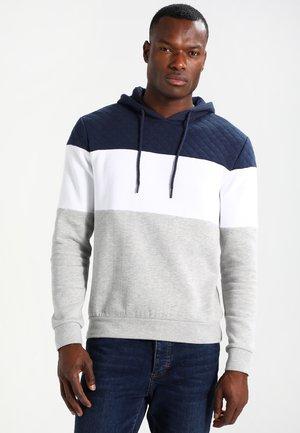 Hoodie - light grey/dark blue