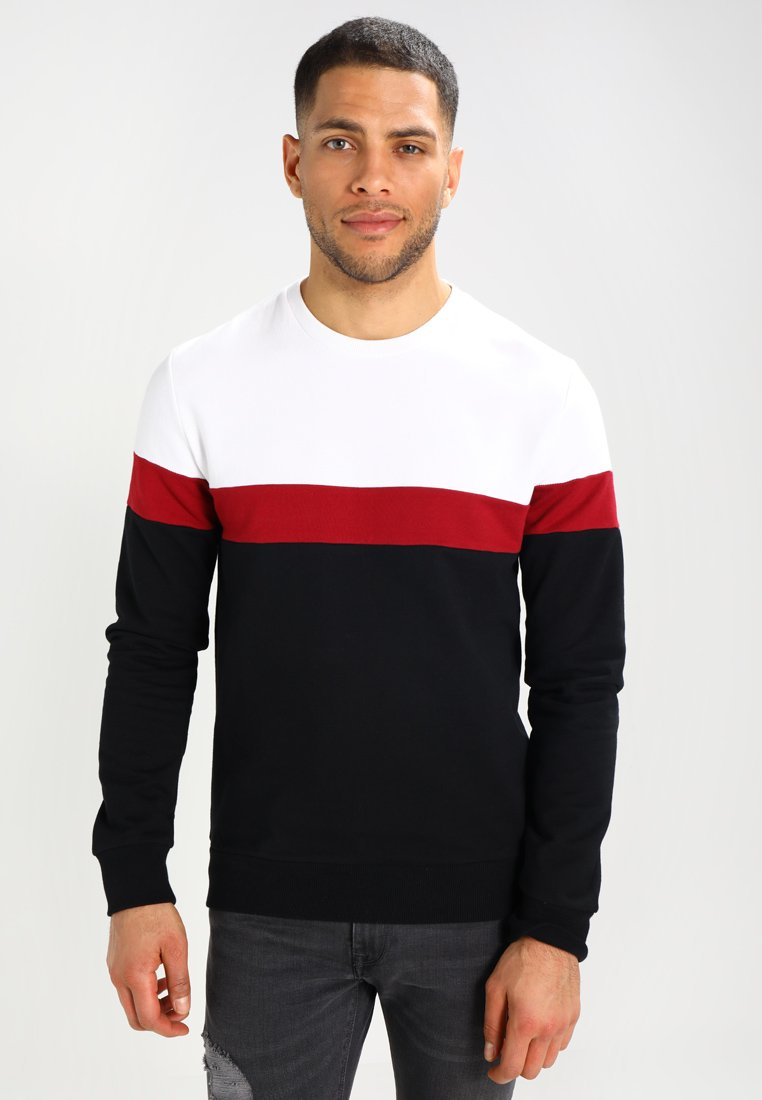 Pier One - Sweatshirt - white/black