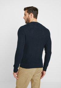 Pier One - Stickad tröja - dark blue - 2
