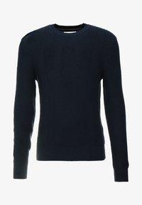 Pier One - Stickad tröja - dark blue - 3