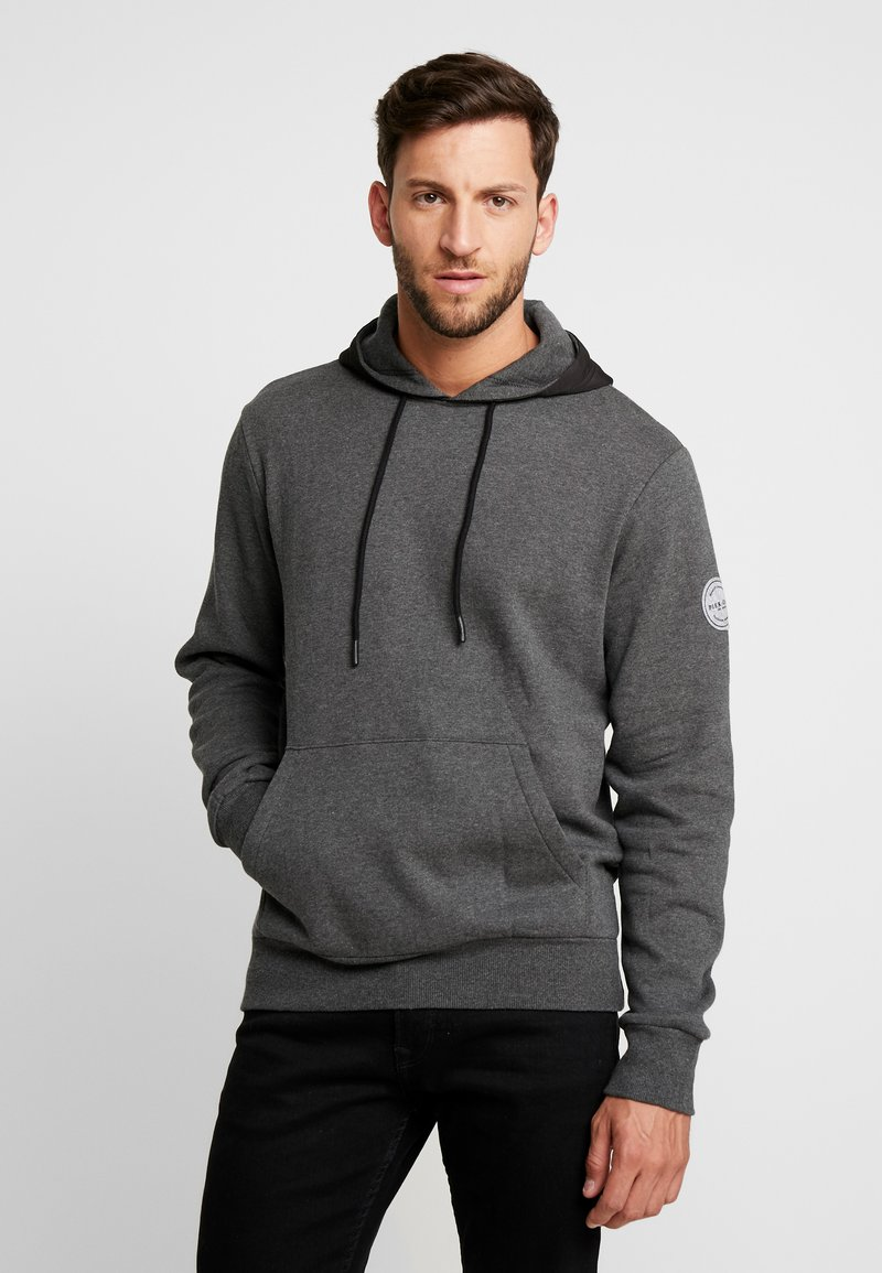 Pier One - CORE HOODY  - Hoodie - mottled dark grey