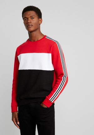 COLOUR BLOCK TAPE - Sweatshirt - red/black