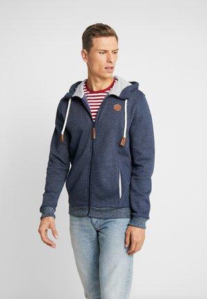 Zip-up hoodie - mottled blue