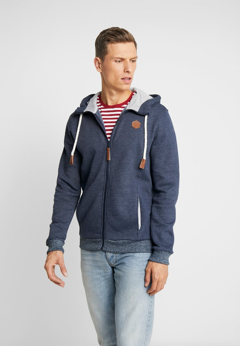 Pier One - Mikina na zip - mottled blue