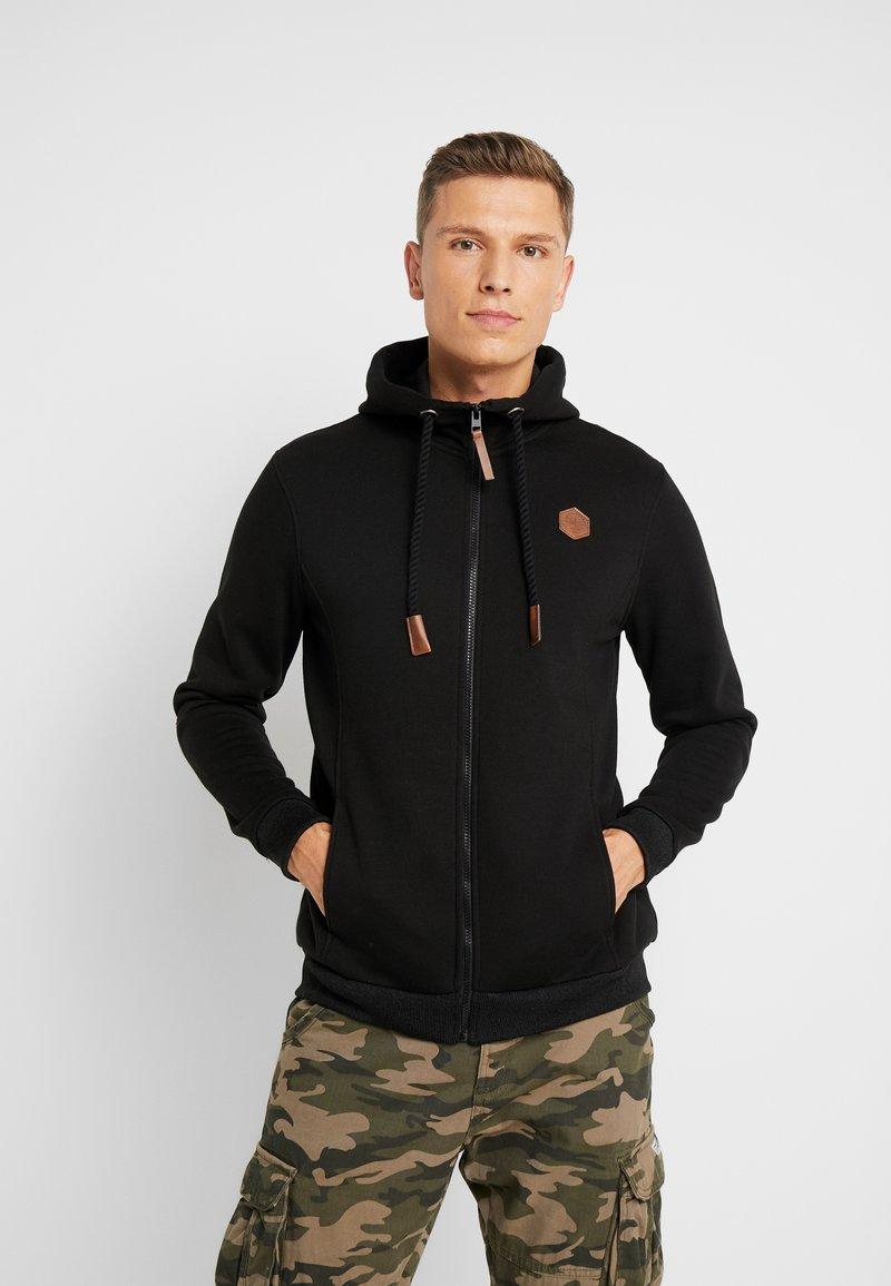 Pier One - Zip-up hoodie - black