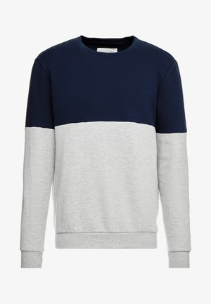 Sweatshirt - mottled light grey/dark blue