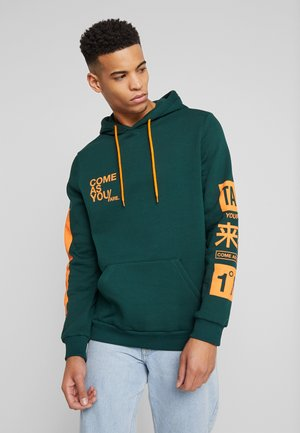 Sweat à capuche - dark green