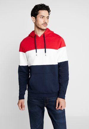 Sweat à capuche - red/dark blue