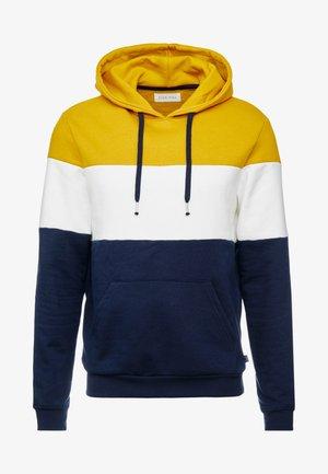 Hoodie - dark blue/mustard