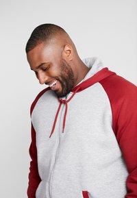 Pier One - Zip-up hoodie -  mottled grey bordeaux - 4