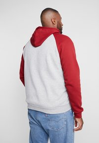 Pier One - Zip-up hoodie -  mottled grey bordeaux - 2