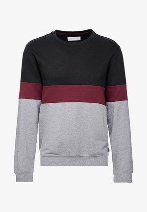 Sweatshirt - white/red/black