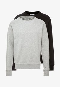 Pier One - 2 PACK - Sudadera - mottled light grey/black