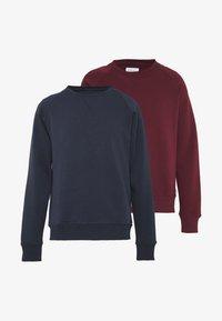 Pier One - 2 PACK - Sweatshirt - dark blue/bordeaux - 3