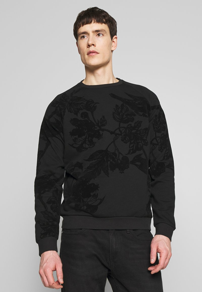 Pier One - TONAL DARK FLORAL  - Sweatshirt - black