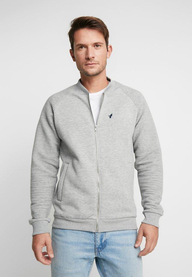 Felpa aperta - mottled grey