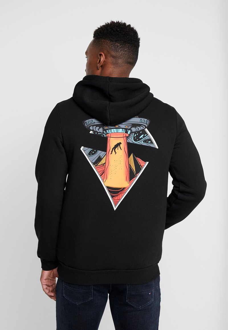 Pier One - ALIEN SWEAT HOODIE - Hoodie - black