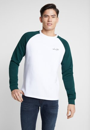 Sudadera - white/dark green
