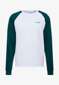 Pier One - Sweatshirt - white/dark green - 4