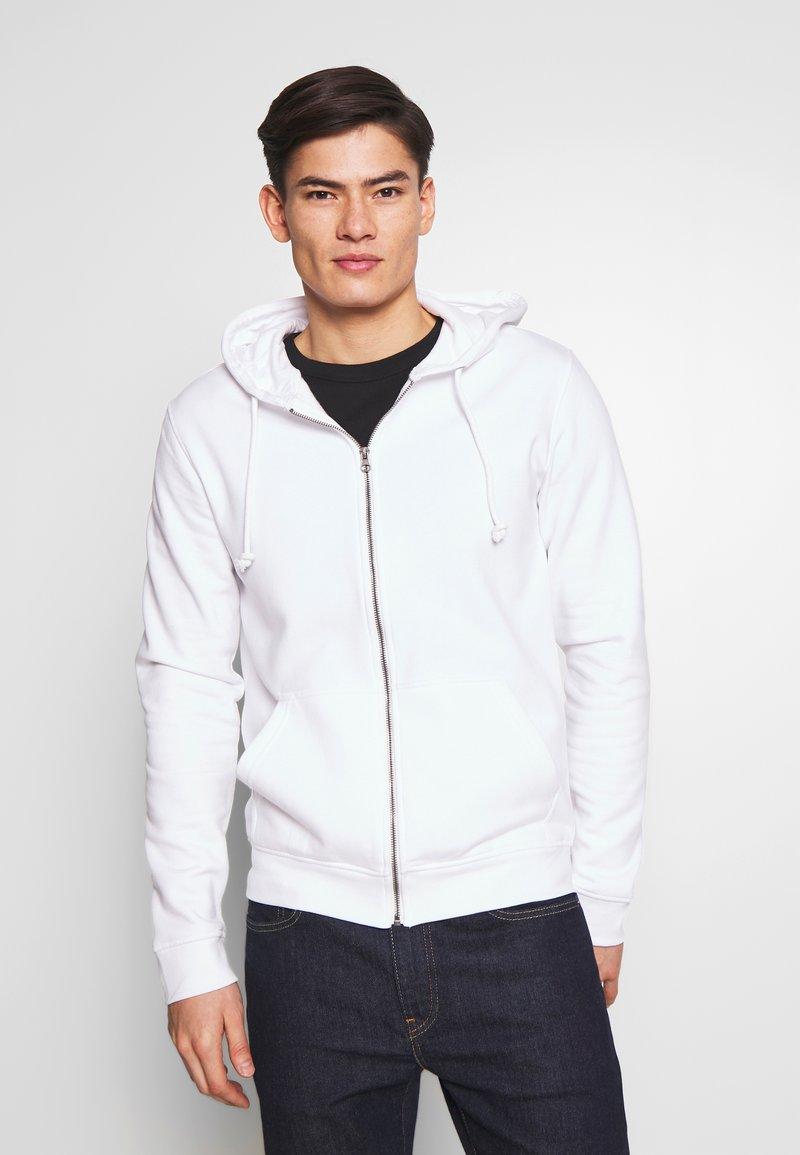 Pier One - Zip-up hoodie - white
