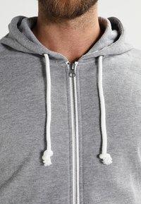Pier One - Zip-up hoodie - grey melange - 3