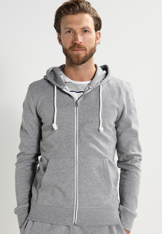 Felpa aperta - grey melange