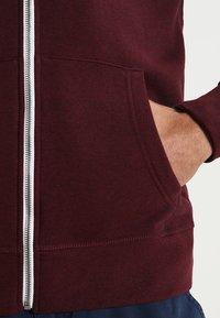 Pier One - Zip-up hoodie - bordeaux melange - 4