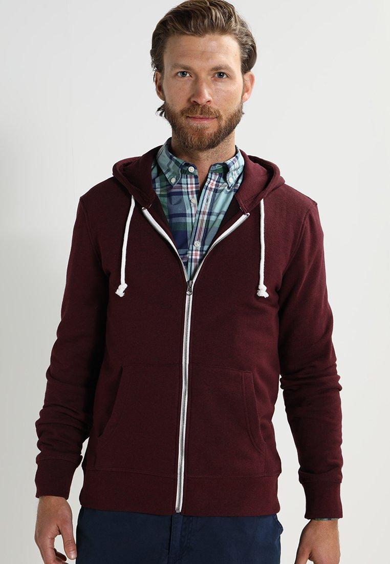 Pier One - Zip-up hoodie - bordeaux melange