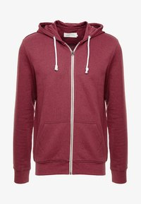 Pier One - Zip-up hoodie - mottled dark red - 4