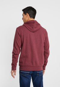 Pier One - Zip-up hoodie - mottled dark red - 2