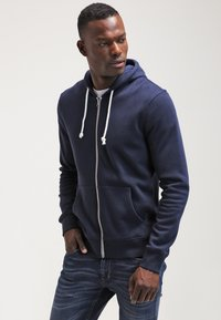 Pier One - veste en sweat zippée - navy - 0